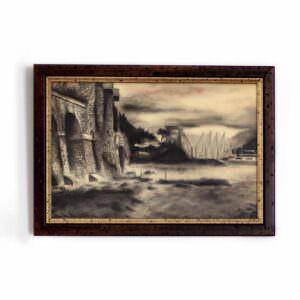 quadro che mostra un panorama marino
