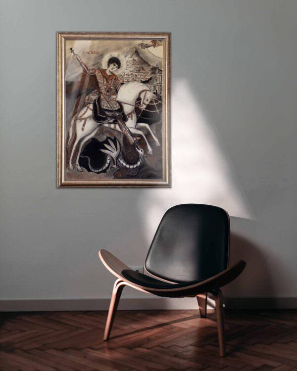 quadro intitolato san giorgio e il drago1