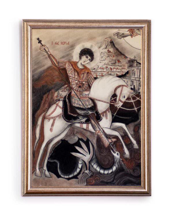 quadro intitolato san giorgio e il drago