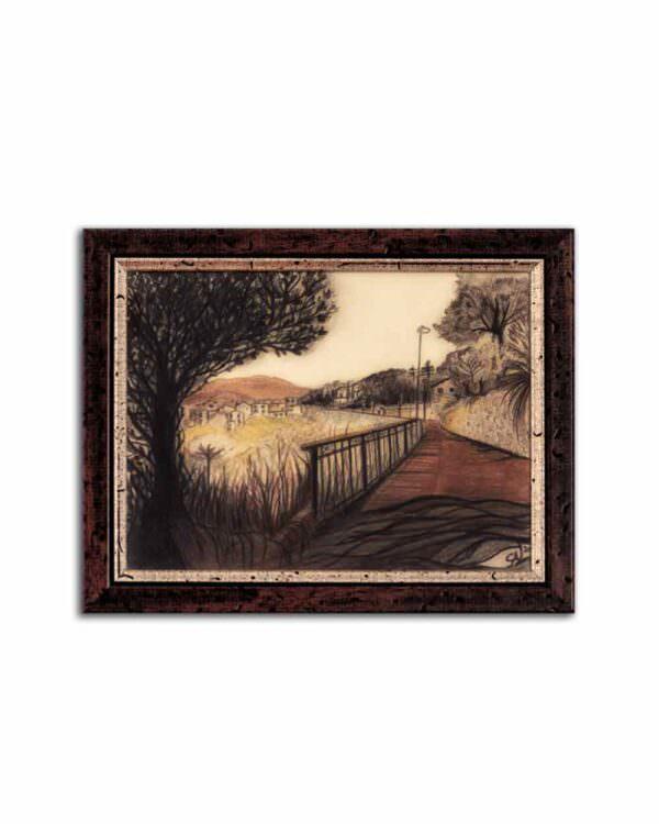quadro intitolato la via di sotto