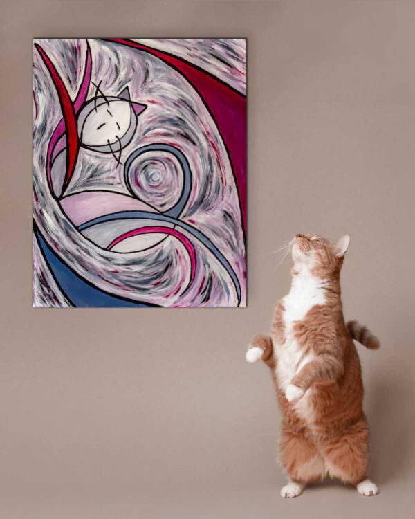 il quadro intitolato gatto risveglio 1