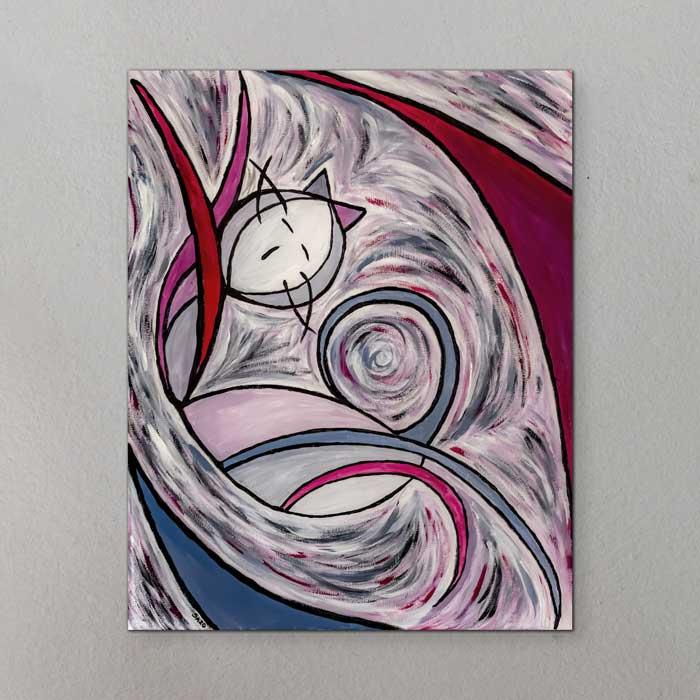 il quadro intitolato gatto risveglio