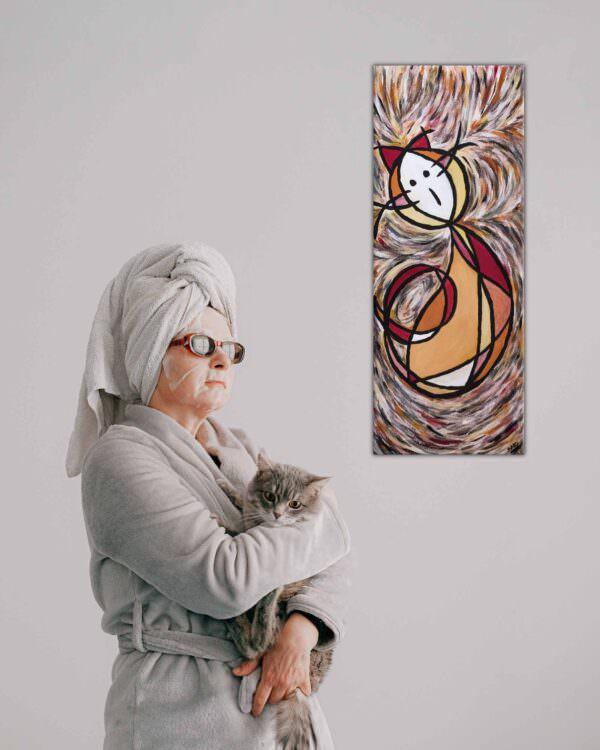 il quadro rappresenta un gatto energia2