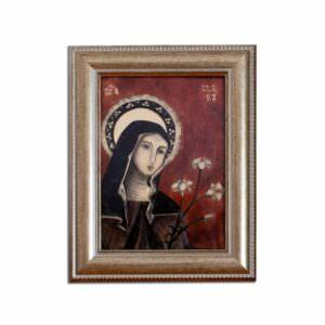 il quadro mostra l'icona di santa chiara
