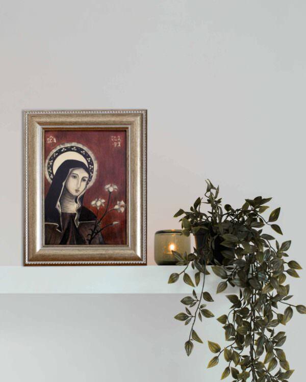 il quadro mostra l'icona di santa chiara1