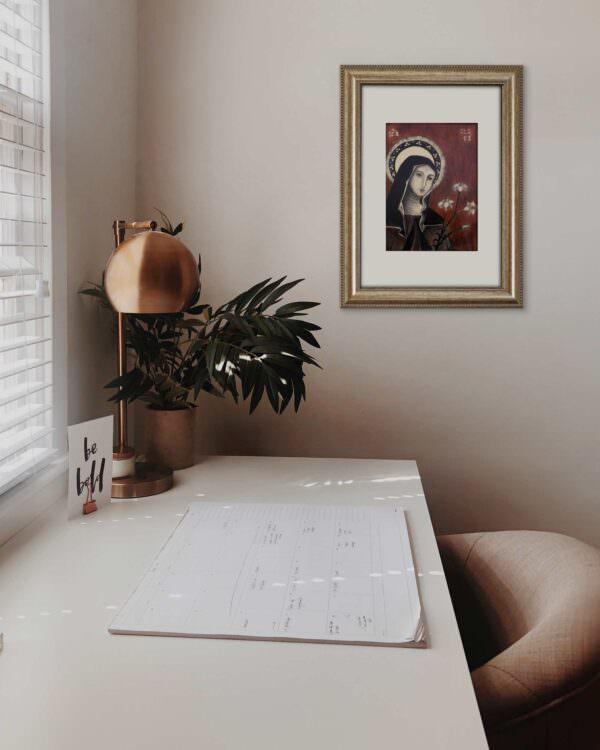 il quadro mostra l'icona di santa chiara2