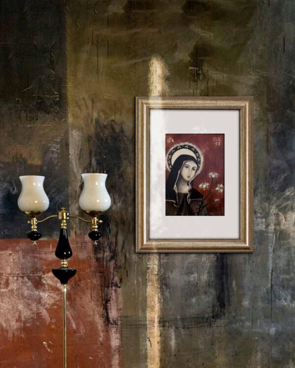 il quadro mostra l'icona di santa chiara3