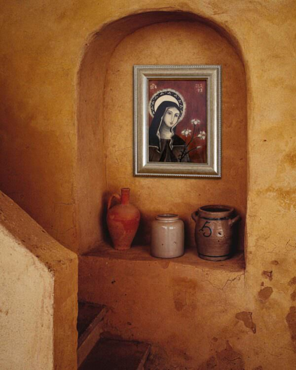il quadro mostra l'icona di santa chiara 4