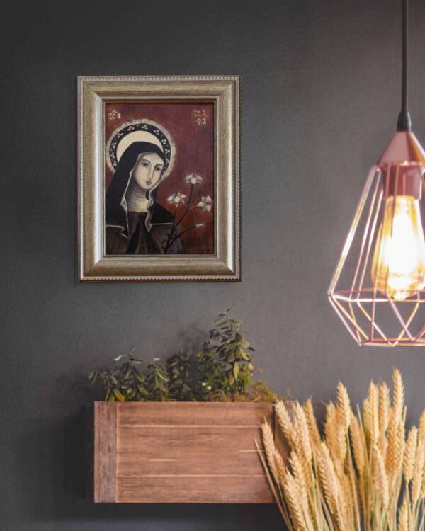 il quadro mostra l'icona di santa chiara 5