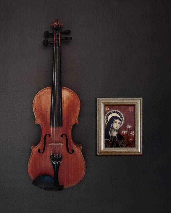 il quadro mostra l'icona di santa chiara 7