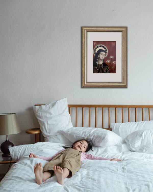 il quadro mostra l'icona di santa chiara 9