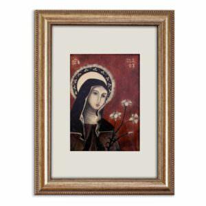 il quadro mostra l'icona di santa chiara cover