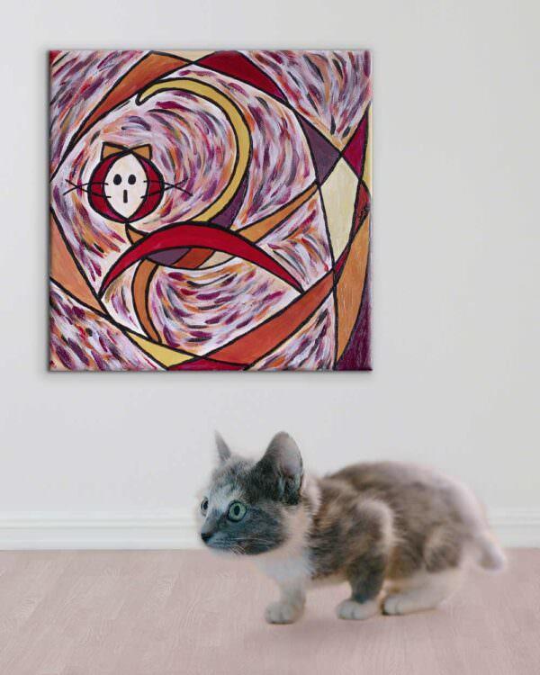 il quadro si intitola gatto nauta