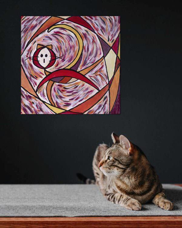 il quadro si intitola gatto nauta 4