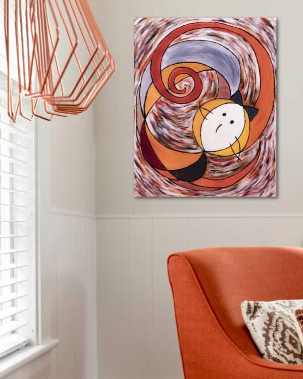 quadro intitolato gatto-spirale2