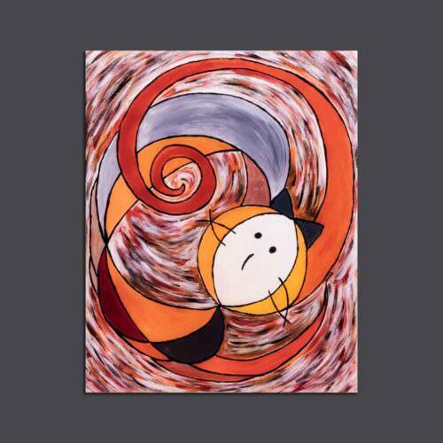 quadro intitolato gatto-spirale