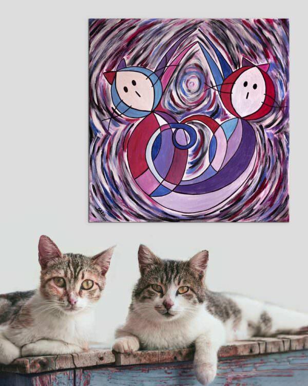 il quadro si intitola gatto legame 1