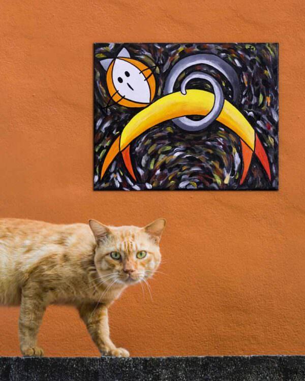 quadro intitolato gatto giallo 1