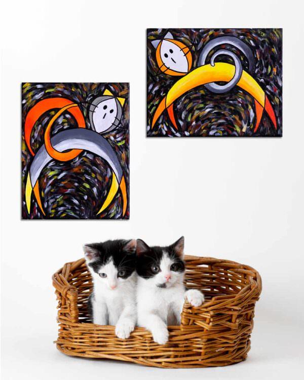 quadri intitolati gatto incontro 3