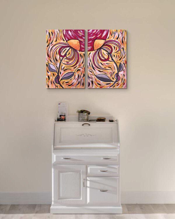 quadro intitolato noi fiori di luce 2
