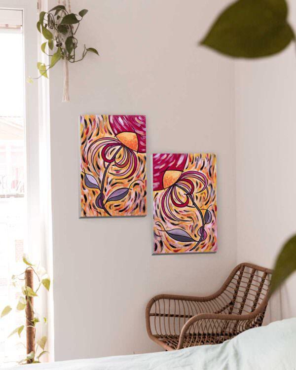 quadro intitolato noi fiori di luce
