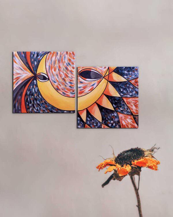quadro intitolato tu sole io luna 1