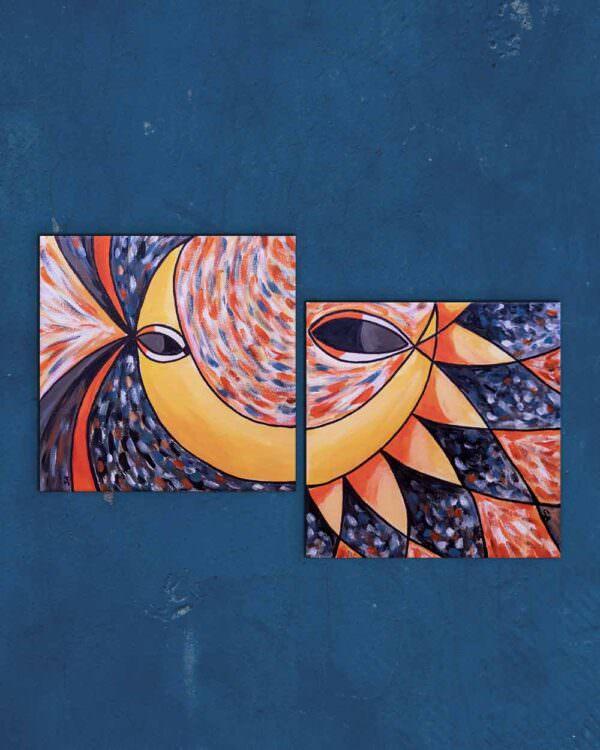 quadro intitolato tu sole io luna